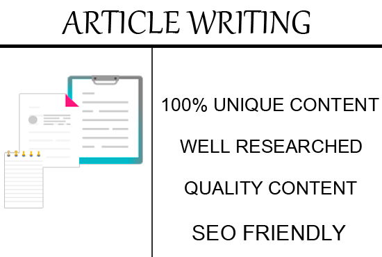 Do ARTICLE Writing For You, FiverrBox