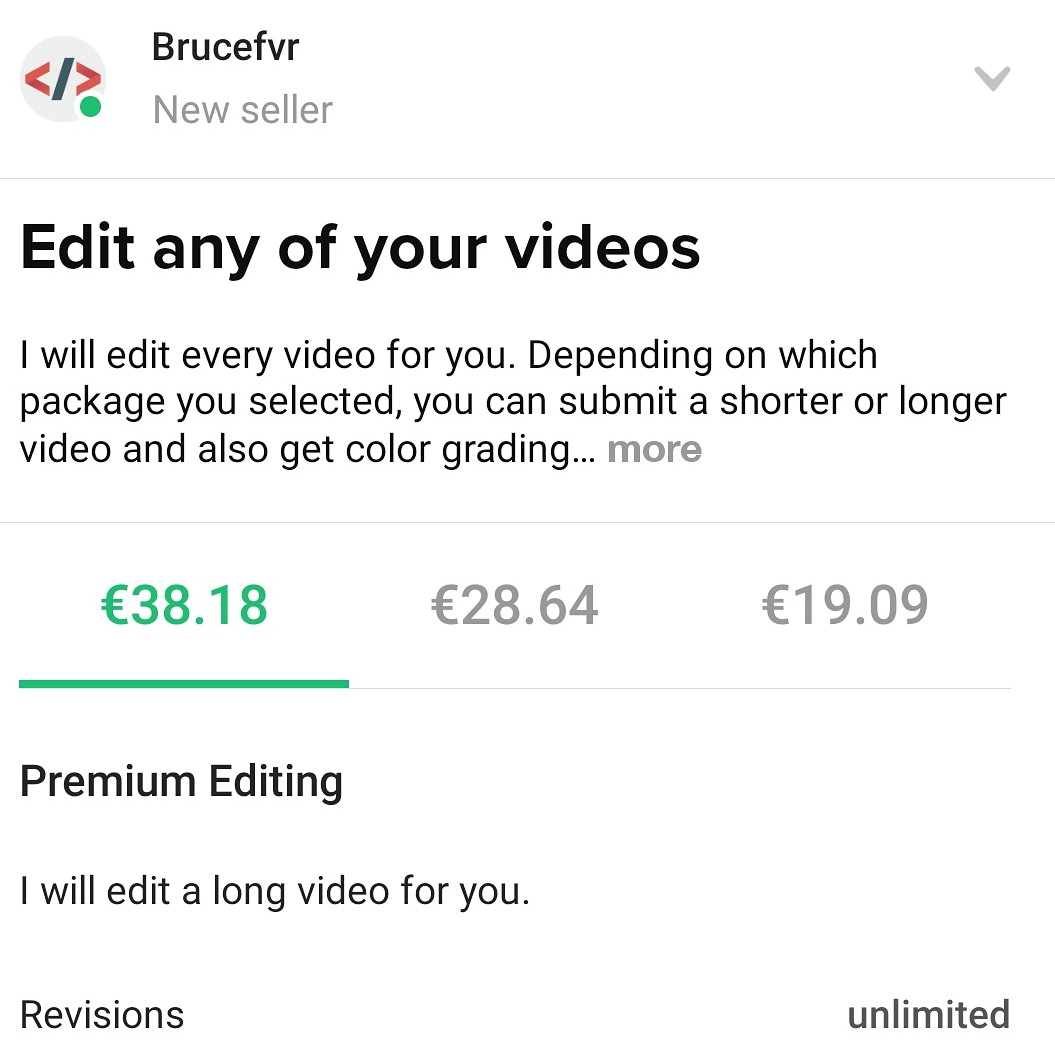 Edit any of your videos, FiverrBox