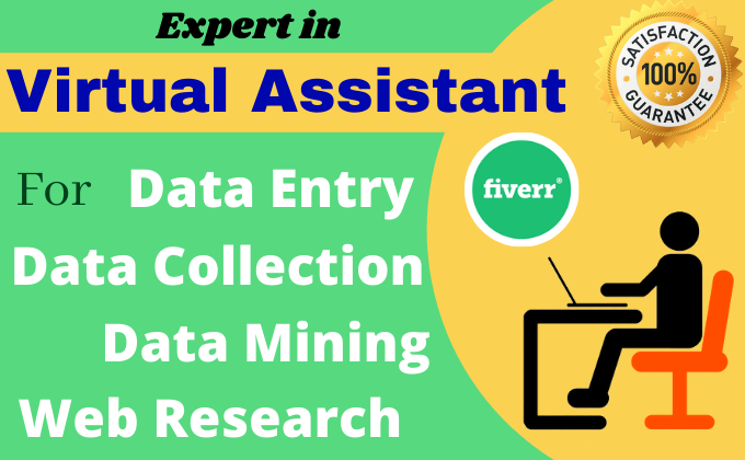 Be your Virtual Assistant for Data Entry, Copy Paste, Web Research, FiverrBox