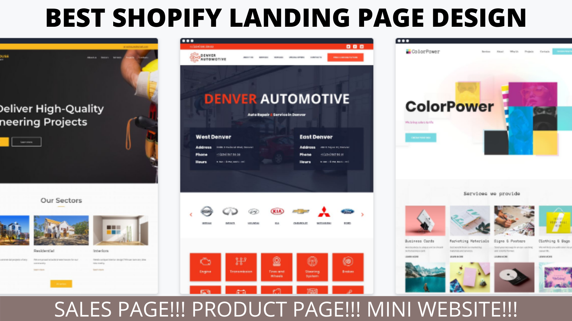 Design high compelling shopify and getresponse landing page, FiverrBox