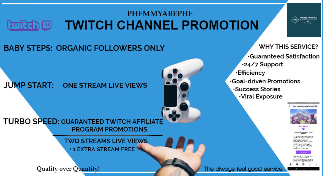 I will promote and drive organic traffic to your twitch channel, FiverrBox