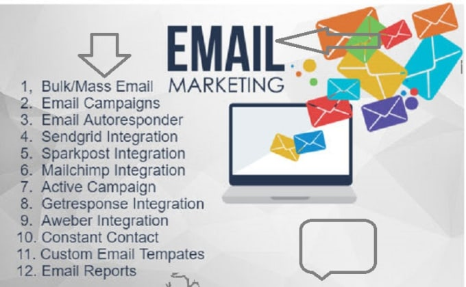 I will set up an effective email marketing email template email list email campaign, FiverrBox