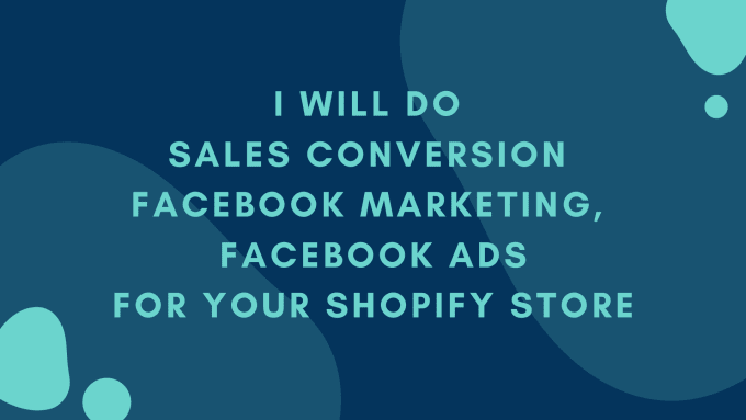 Run sales converting facebook marketing, shopify marketing, shopify promotion, FiverrBox