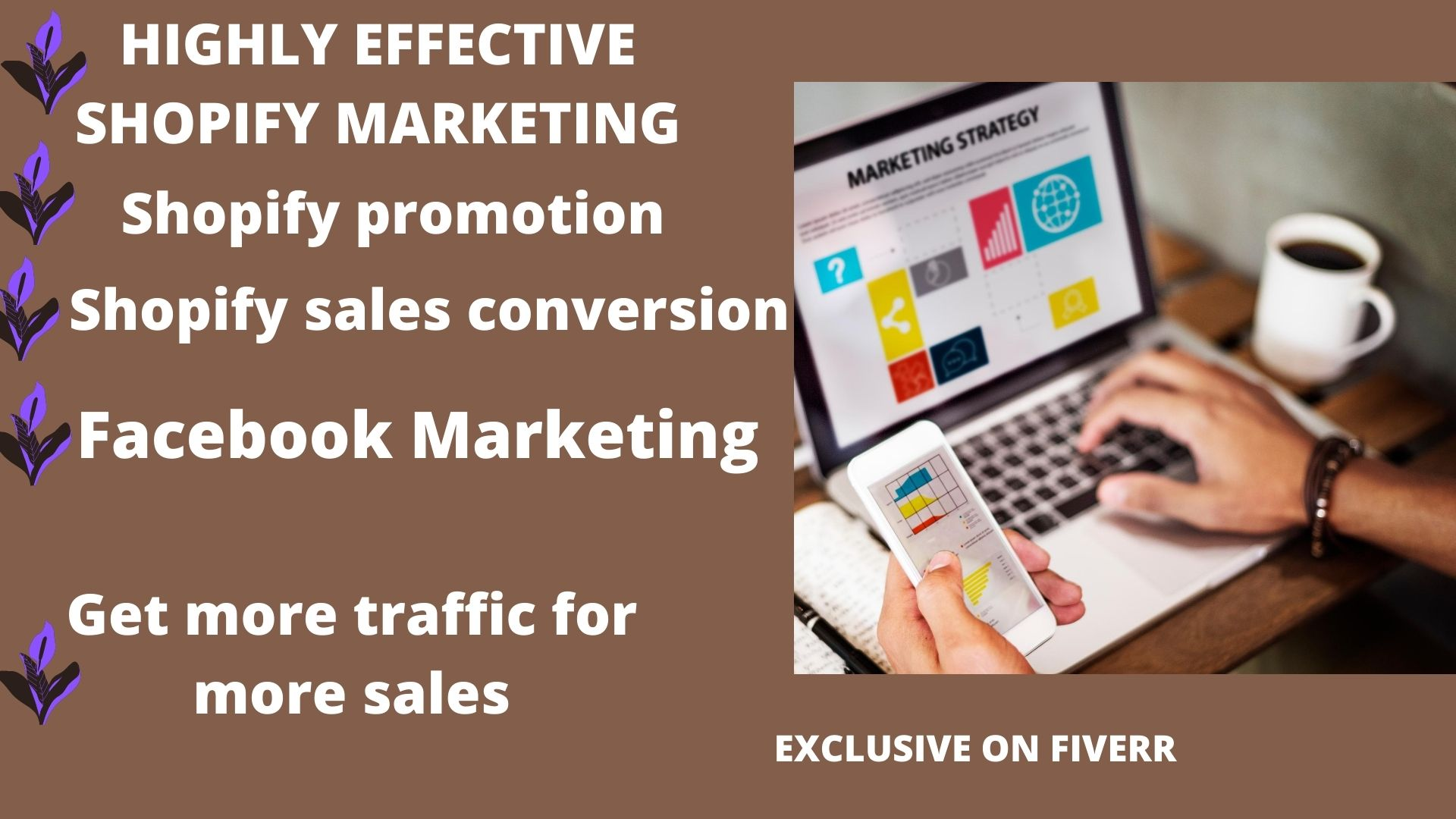 I will shopify marketing shopify promotion that guarantees sales, FiverrBox