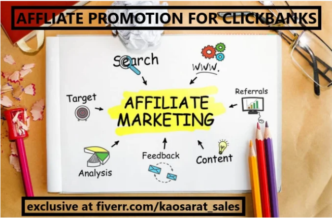 I will promote your affiliate link,teespring,twitch channel to real audience, FiverrBox