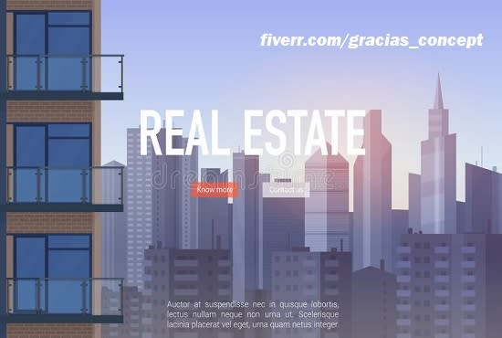 I will converting real estate landing page, FiverrBox