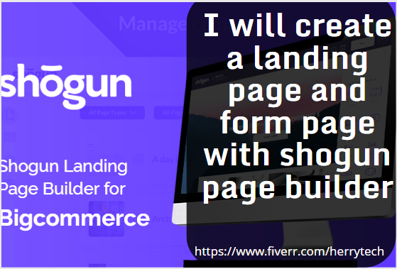 establish a shopify website with pagefly and shogun, FiverrBox