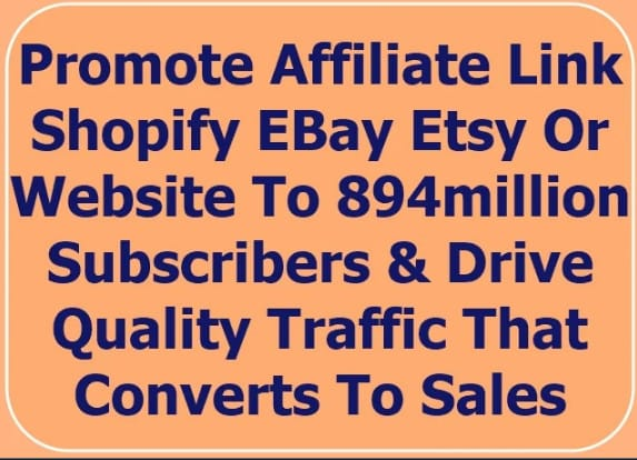I will promote sales and drive usa traffic to your shopify amazon ebay etsy, FiverrBox