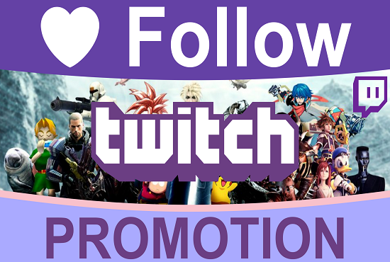 I will promote and organically help grow your twitch channel promote and organically help grow your twitch channel, FiverrBox