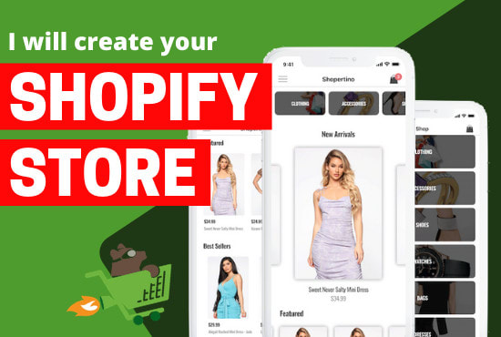 I will create shopify dropshipping store, shopify store and print on demand, FiverrBox