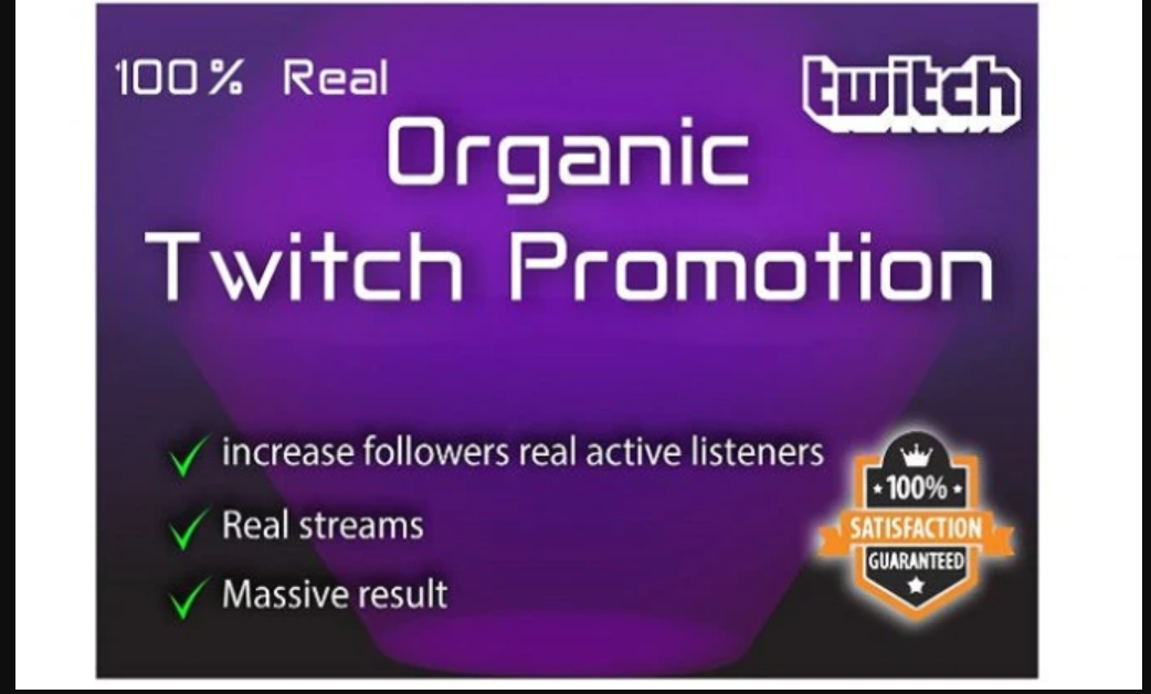 I will organically promote your twitch channel to get more real engagement, FiverrBox