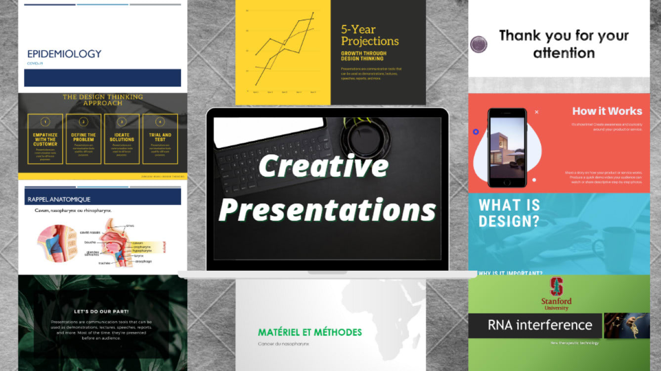 I will do a creative and professional powerpoint presentation, FiverrBox