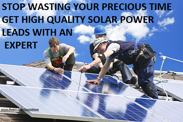 I will get high quality solar power leads generation through facebook ads landing page, FiverrBox