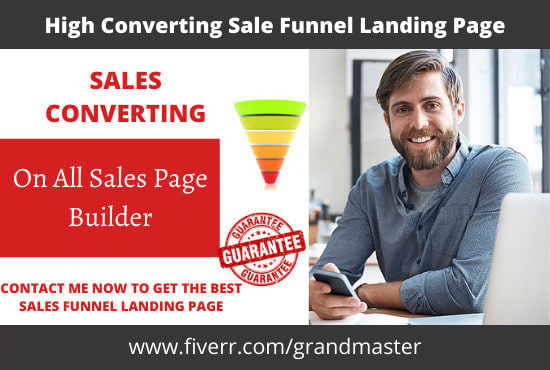 I will create amazing click funnel, getresponse sales funnel and landing page, FiverrBox