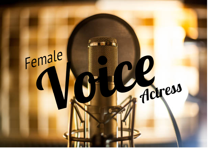 I will record your female advertisement, FiverrBox