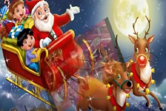 I will do christmas animation, merry christmas video, FiverrBox