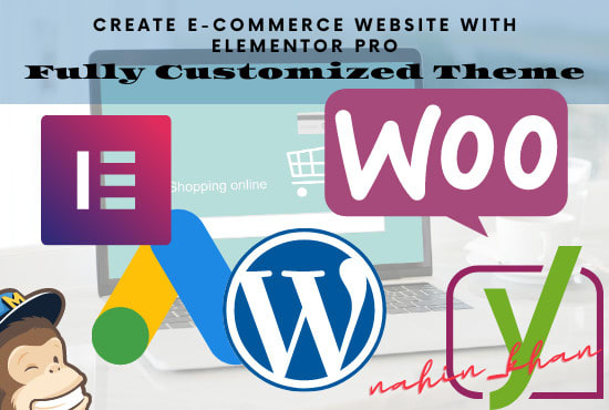 I will create ecommerce landing page with elementor pro, FiverrBox