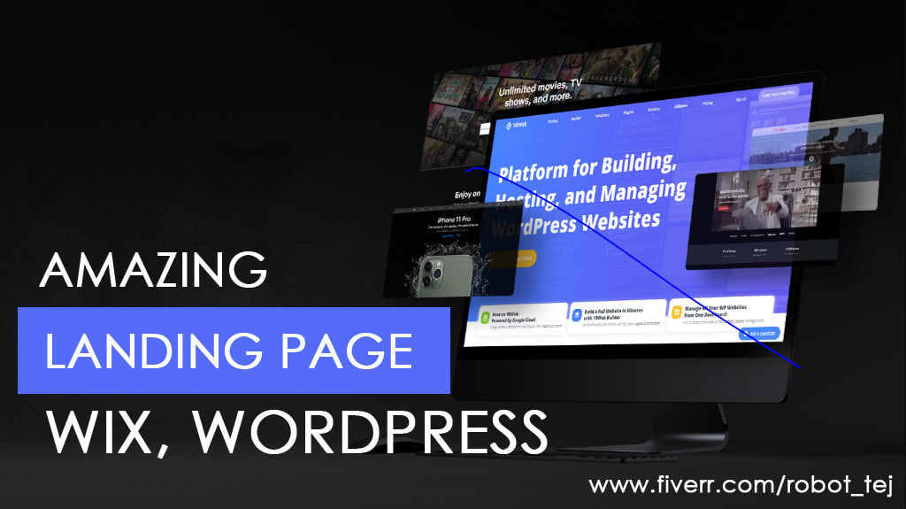 I will create amazing landing page design or squeeze page design, FiverrBox