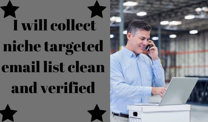 I will collect niche targeted email list clean and verified, FiverrBox