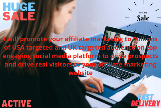 I will do promotion affiliate marketing and generate real USA website traffic, FiverrBox