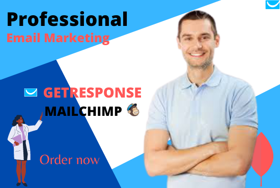 I will create getresponse landing page or mailchimp email marketing, FiverrBox