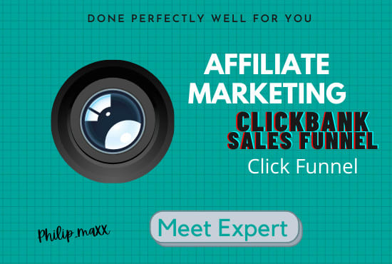 I will build clickbank affiliate marketing sales funnel landing page, FiverrBox