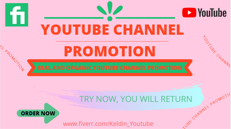 I will do an high catching youtube channel promotion, FiverrBox