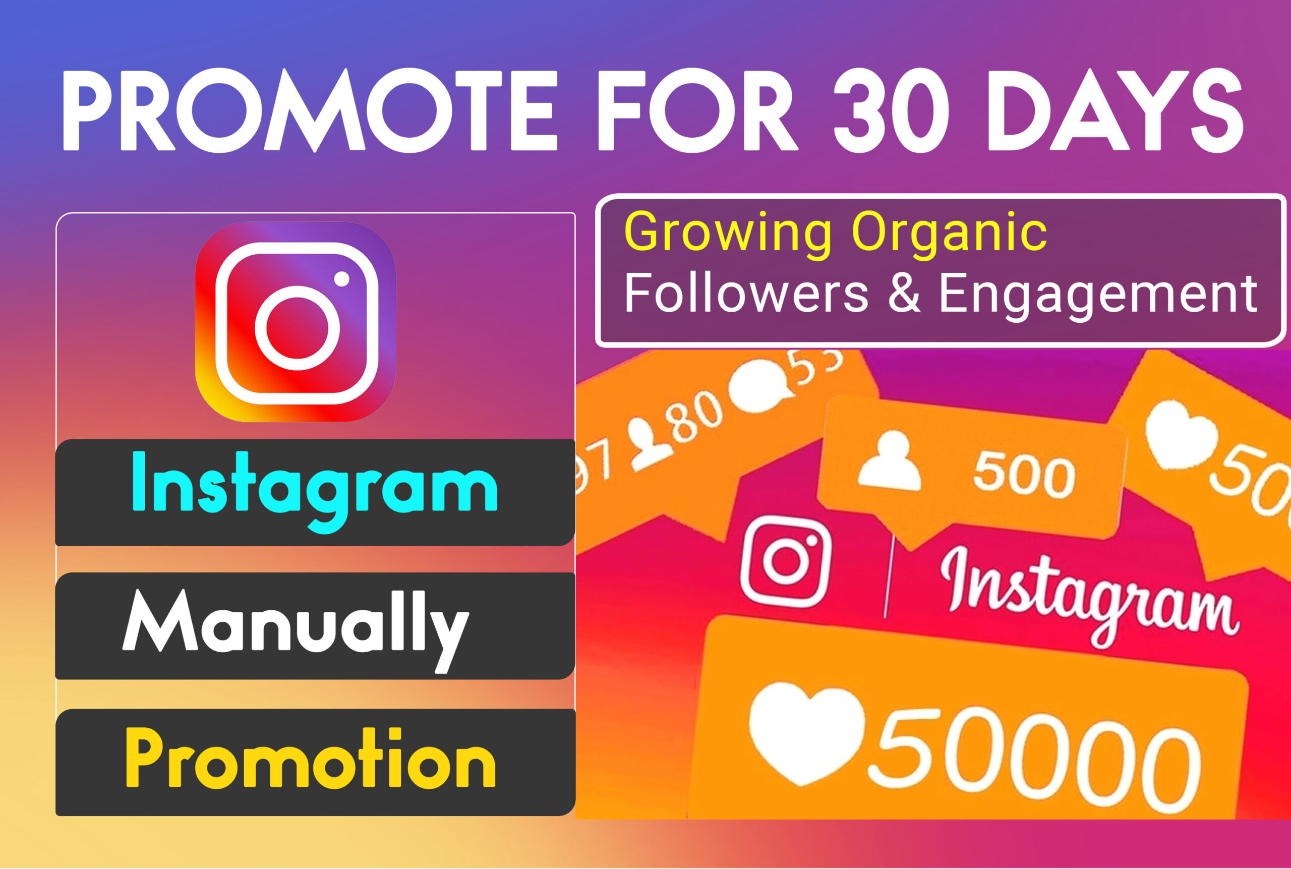 I will grow and promote instagram page organically, FiverrBox