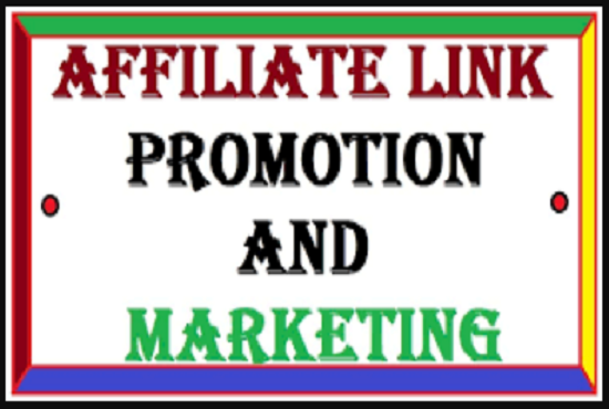 I will do affiliate referral link promotion for affiliate link traffic, FiverrBox