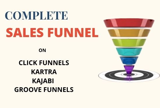 I will build your sales funnel,membership, landing page on clickfunnels, kartra,, FiverrBox