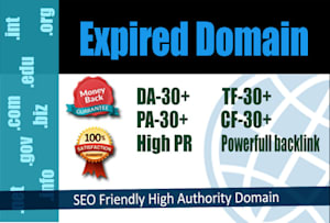 I will find high authority expired domain name, FiverrBox