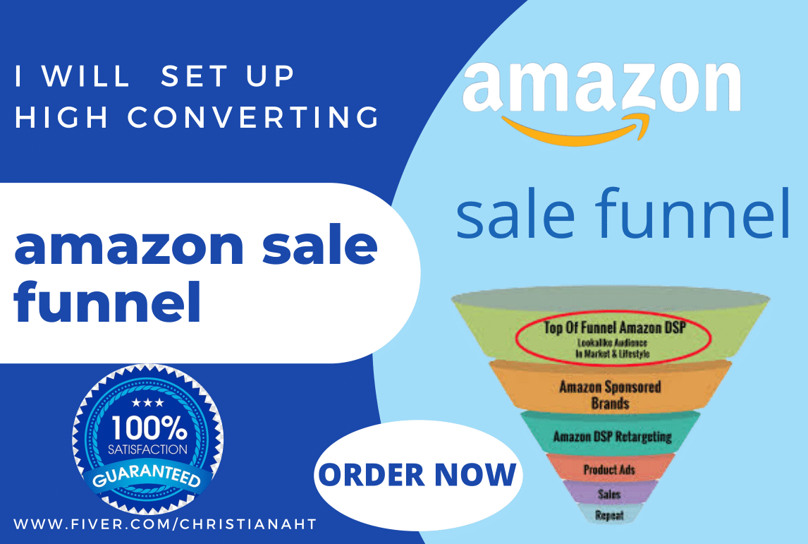 I will set up amazon sales funnel, amazon sales page for your, FiverrBox
