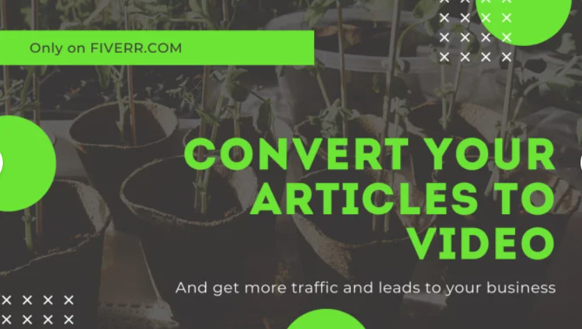 I will convert blog post, article or text to video with voice, FiverrBox