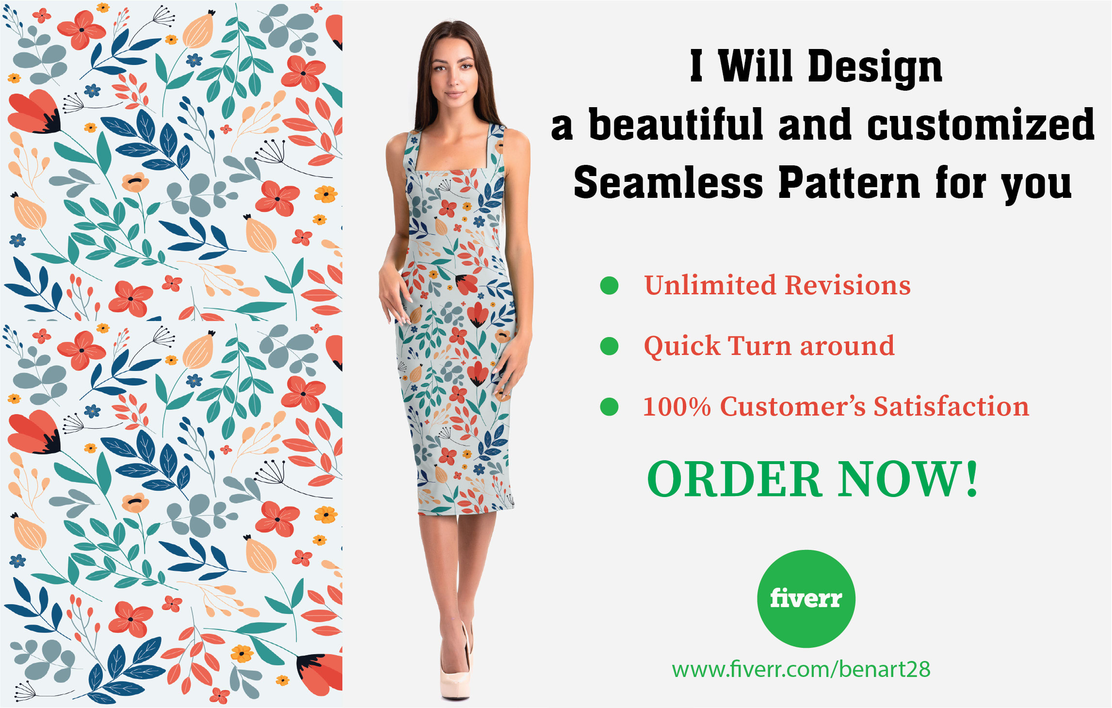 I will design stunning seamless patterns for you, FiverrBox