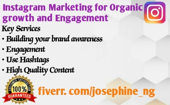 I will do instagram marketing for organic growth and engagements, FiverrBox