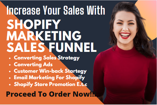 I will do shopify sales funnels, click funnels sales funnel, shopify sales, FiverrBox