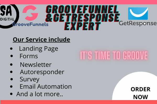 I will groove funnel,create getresponse landing page, do automation for email, FiverrBox