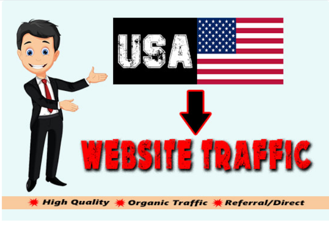 I will drive organic USA targeted web traffic to you, FiverrBox