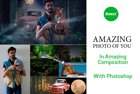I will manipulate your pictures into amazing composition, FiverrBox