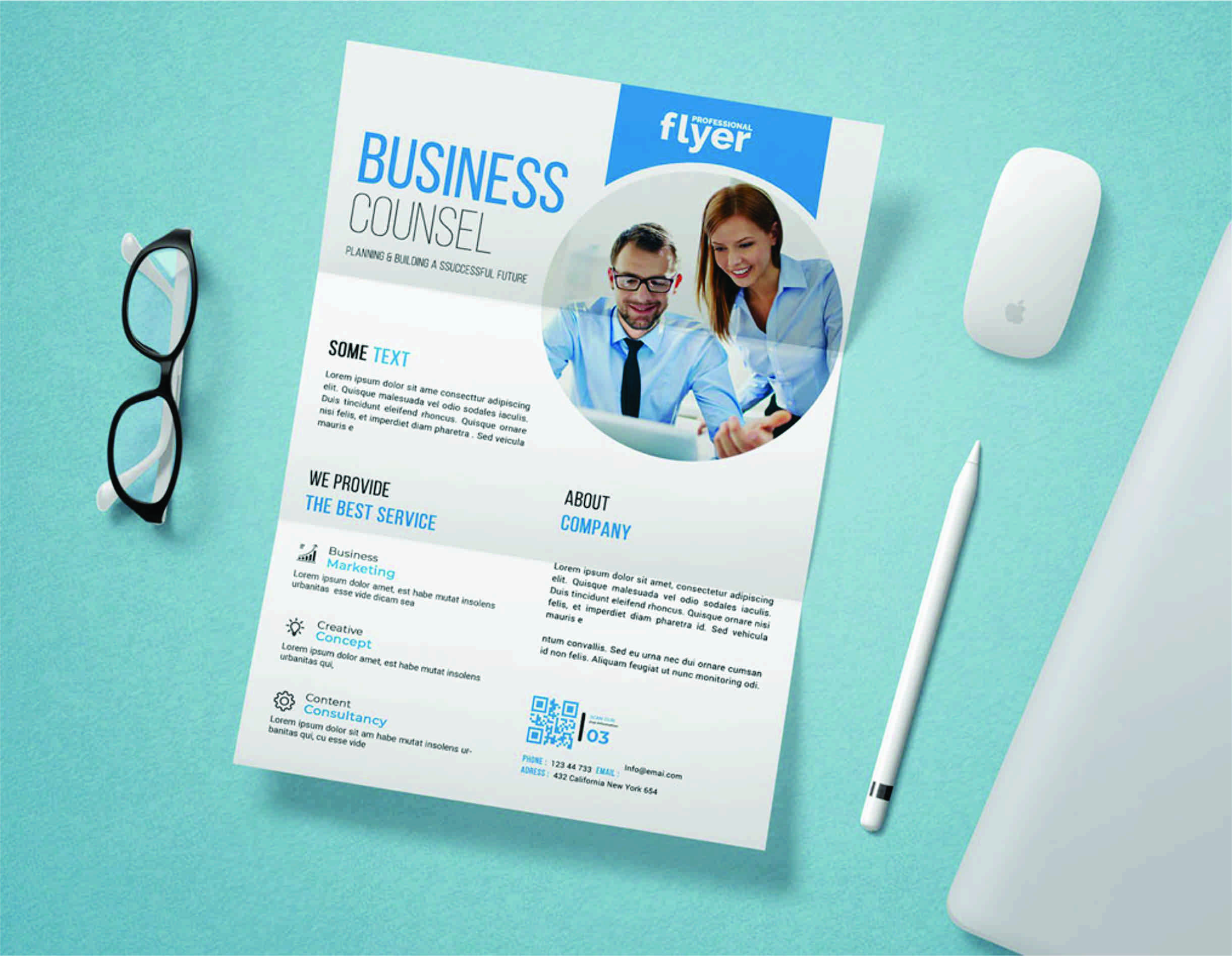 I will do creative business flyer design within express delivery, FiverrBox