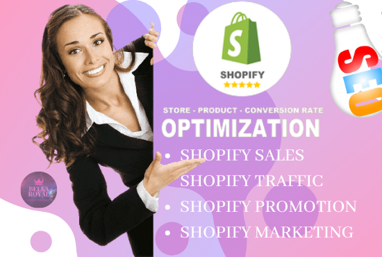 I will grow shopify sales with sales converting shopify marketing, shopify promotion, FiverrBox