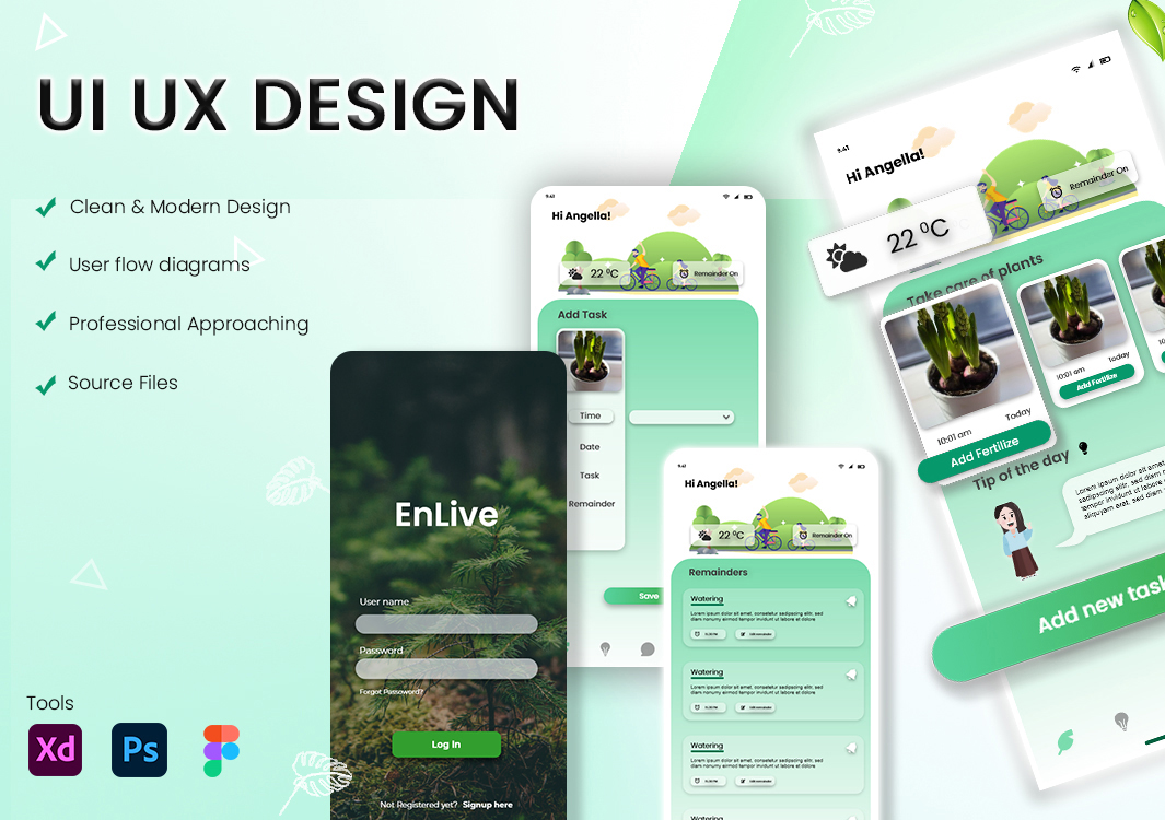 I will design android, ios mobile app UI and website UI UX, FiverrBox