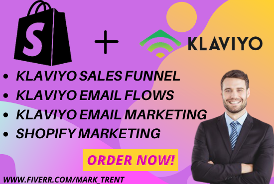I will set up klaviyo flows shopify sales funnel for shopify store, FiverrBox