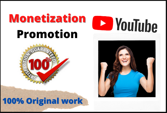 I will do viral promotion to grow your youtube channel monetization, FiverrBox