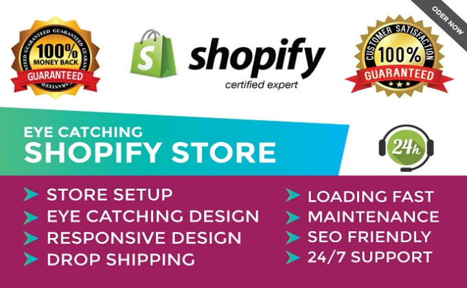 I will do shopify store design, shopify store redesign and revamp, FiverrBox