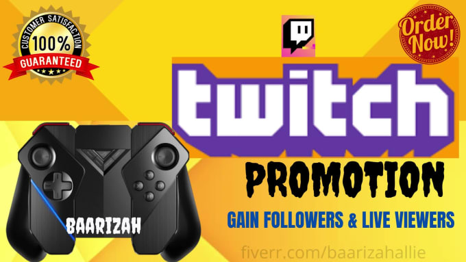 I will run twitch promotion for your channel to get real and, FiverrBox