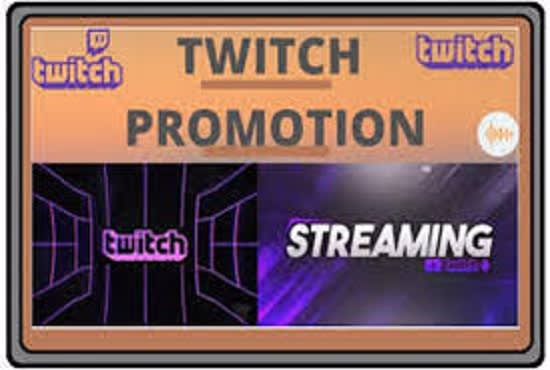 I will run twitch channel promotion to grow your channel organically, FiverrBox