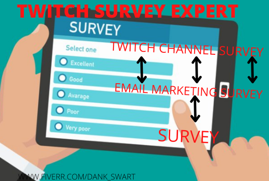 I will set up a professional survey for your twitch channel to, FiverrBox