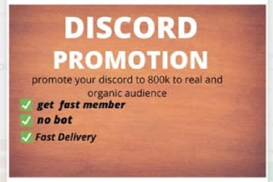 I will do discord server promotion to over 900k active members, FiverrBox