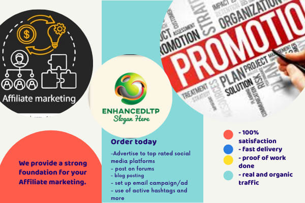 I will do organic clickbank affiliate promotion, to active audience, FiverrBox